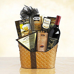 Royal Treatment Red Wine Gift Basket