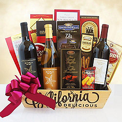 The California Tantalizing Trio Wine Gift Basket