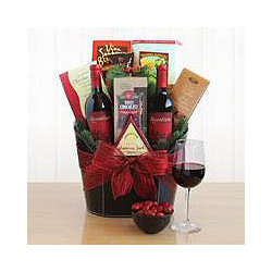 Uncork The Jingle Gift Basket
