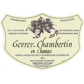 Domaine Philippe Leclerc 2015 Gevrey Chambertin, en Champs
