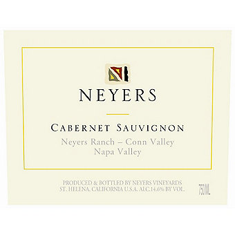Neyers 2014 Cabernet Sauvignon, Neyers Ranch, Conn Valley, Napa Valley