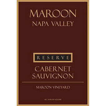 Maroon 2013 Cabernet Sauvignon Reserve, Maroon Vyd., Coombsville District, Napa Valley
