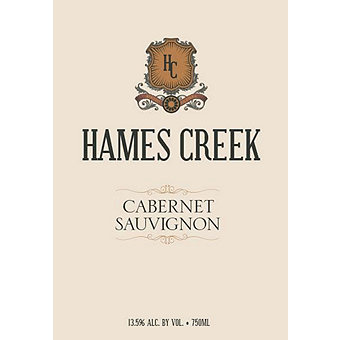 Hames Creek 2016 Cabernet Sauvignon, California