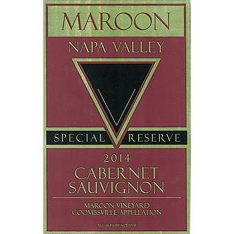 Maroon 2014 Cabernet Sauvignon Special Reserve, Maroon Vyd., Coombsville, Napa Valley