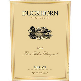 Duckhorn 2015 Merlot, Three Palms, Napa Valley