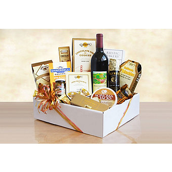 Artisinal Snacks and Sips Gourmet Gift Box
