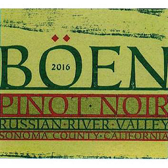 Boen 2016 Pinot Noir, Russian River Valley