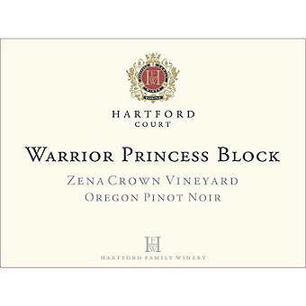 Hartford Court 2015 Pinot Noir, Warrior Princess, Zena Crown Vyd., Willamette Valley