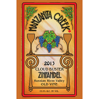 Manzanita Creek 2013 Zinfandel, Old Vine, Cloud Buster, Russian River Valley