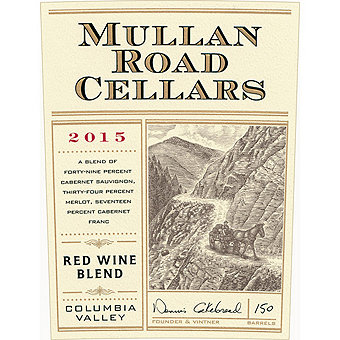 Mullan Road 2015 Red Blend, Cakebread, Columbia Valley