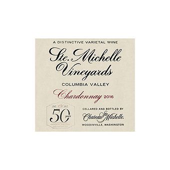 Chateau Ste. Michelle 2016 Chardonnay, Columbia Valley