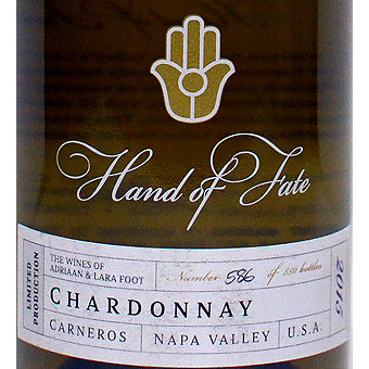 Hand of Fate 2015 Chardonnay, Carneros
