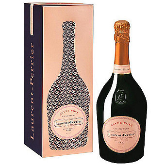 Laurent Perrier Cuvee Rose Brut NV Champagne w / Rose Gold Gift Cage