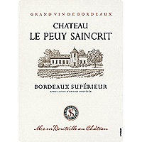 Chateau Le Peuy Saincrit 2016 Bordeaux Superieur