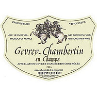 Domaine Philippe Leclerc 2016 Gevrey Chambertin, en Champs