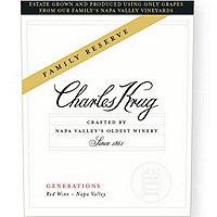 Charles Krug 2014 Generations Reserve Red, Napa Valley