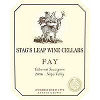 Stag's Leap Wine Cellars 2016 Cabernet Sauvignon, Fay Vyd., Napa Valley