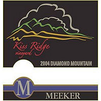 Meeker 2004 Cabernet Sauvignon, Kiss Ridge, Diamond Mtn., Napa Valley