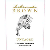 Z. Alexander Brown 2017 Uncaged, Cabernet Sauvignon, California