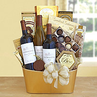 Golden Vineyard Gourmet Basket