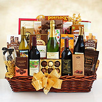 California Grandeur Wine and Gourmet Gift Basket