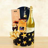 Sparkling Wine and Chocolate Celebration Star Box