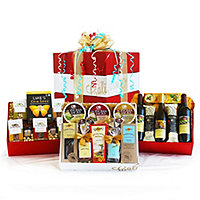 Wine, Cheese and Gourmet Celebration Pack Gift