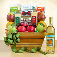 California Delights Fruit and Wine Gift Crate