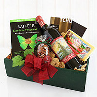 Organic Wine & Cheese Gift Box