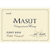 Masut 2016 Estate Pinot Noir, Eagle Peak, Mendocino