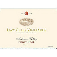 Lazy Creek 2014 Pinot Noir Estate, Anderson Valley