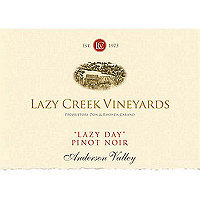 Lazy Creek 2017 Pinot Noir, Lazy Day, Anderson Valley