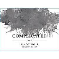 Taken Wine Co. Complicated 2016 Pinot Noir, Sonoma Coast