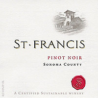 St. Francis 2015 Pinot Noir, Sonoma County