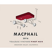 MacPhail 2016 Pinot Noir, Toulouse Vyd., Anderson Valley