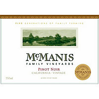 McManis Family 2016 Pinot Noir, California