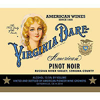 Virginia Dare 2015 Pinot Noir, Russian River Valley, Coppola