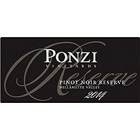 Ponzi 2014 Pinot Noir Reserve, Willamette Valley