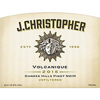 J. Christopher 2015 Pinot Noir, Volcanique, Dundee Hills, Oregon