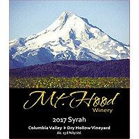Mt. Hood 2017 Syrah, Columbia Valley