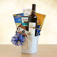 Kosher Silver Wine Sensations Gift Basket
