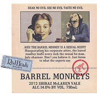 Barrel Monkeys 2013 Shiraz, McLaren Vale, Red Heads Studio