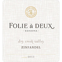 Folie a Deux 2013 Zinfandel, Dry Creek Valley, Sonoma