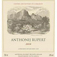 Anthonij Rupert 2008 Red Blend, Coastal Region, South Africa