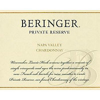 Beringer 2015 Chardonnay, Private Reserve, Napa Valley