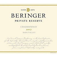Beringer 2017 Chardonnay, Private Reserve, Napa Valley