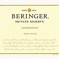 Beringer 2018 Chardonnay, Private Reserve, Napa Valley