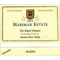 Marimar 2014 Chardonnay, Acero, Don Miguel Vyd., Russian River Valley