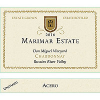 Marimar 2016 Chardonnay, Acero, Don Miguel Vyd., Russian River Valley