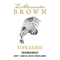 Z. Alexander Brown 2017 Chardonnay, Uncaged, Santa Lucia Highlands
